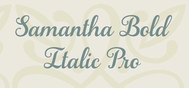 Samantha Bold Italic