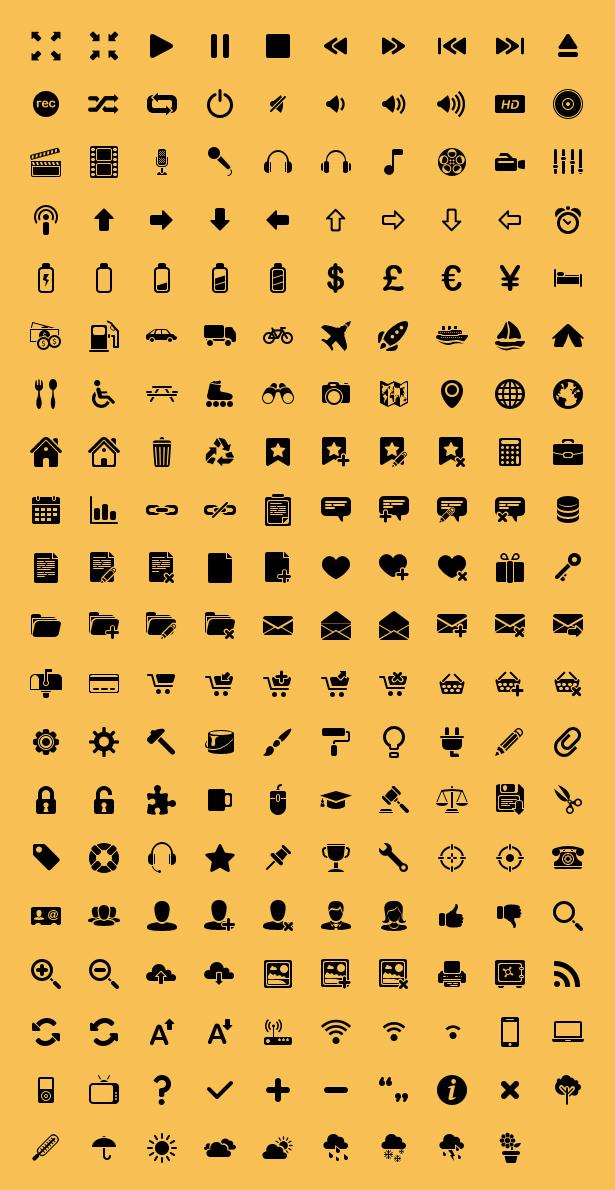 Minima Icon Set