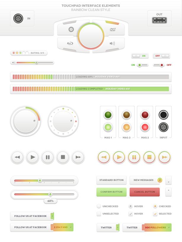 Touchpad UI - Rainbow Style