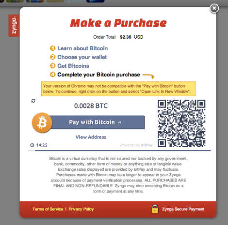 Zynga Links Up With Bitpay For A Bitcoin